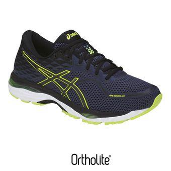 Zapatillas de running hombre GEL-CUMULUS 19 indigo blue/black/safety yellow