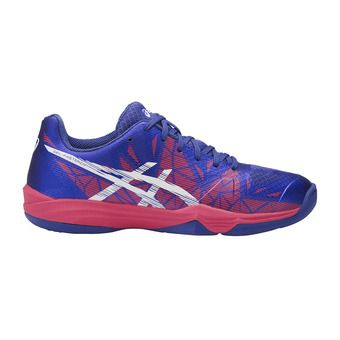 Zapatillas de balonmano mujer  GEL-FASTBALL 3 blue purple/white/rouge red