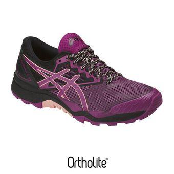 Chaussures trail femme GEL-FUJITRACUBO 6 baton rouge/seashell pink/black