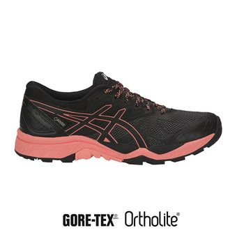 Zapatillas trail mujer GEL-FUJITRACUBO 6 G-TX black/begonia pink