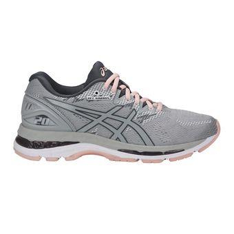Chaussures running femme GEL-NIMBUS 20 mid grey/seashell pink