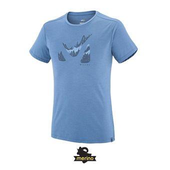 Tee-shirt MC homme AKNA WOOL teal blue