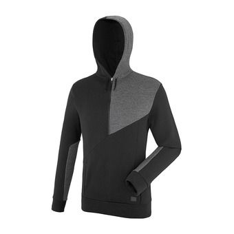 Sweat à capuche 1/2 zip homme BAHIA black
