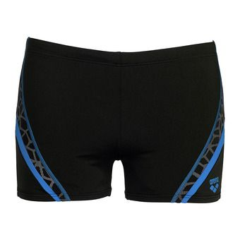 Boxer de bain homme MICROCARBONITE black/pix blue/silver