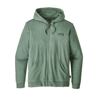 Sweat à capuche zippé homme P-6 LABEL LW pesto