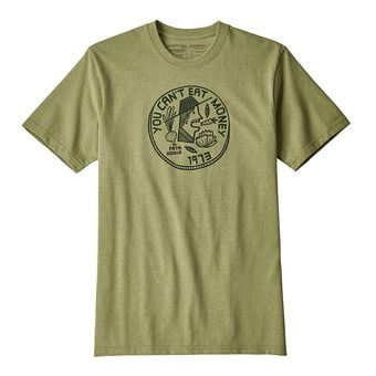 Camiseta hombre CAN'T EAT MONEY RESP crag green