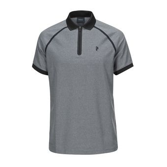 Polo MC homme BANKER grey melange