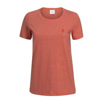 Tee-shirt MC femme TRACK orange flow