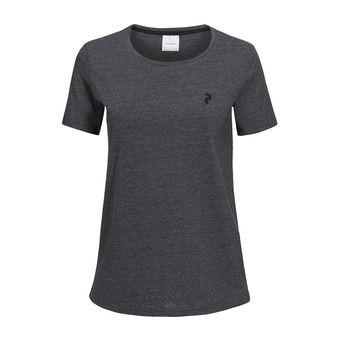 Tee-shirt MC femme TRACK dark grey melange