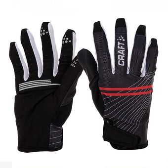 Guantes LONG GEL black/white/red