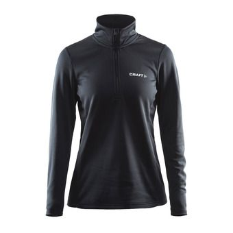 Sweat 1/2 zip femme SWIFT noir