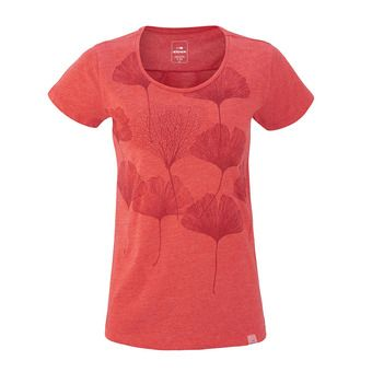 Tee-shirt MC femme ODAIBA spicy coral leaves