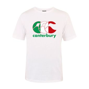 Tee-shirt MC homme TEAM PLAIN white italia