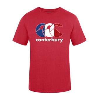 Camiseta hombre TEAM PLAIN red france