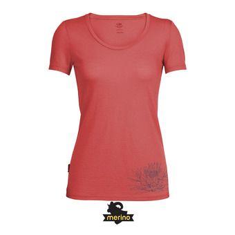 Camiseta mujer TECH LITE SCOOP poppy red
