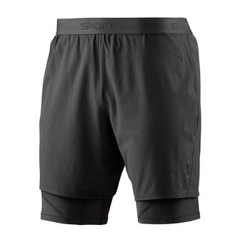 Short 2 en 1 homme SUPERPOSE DNAMIC black/silver