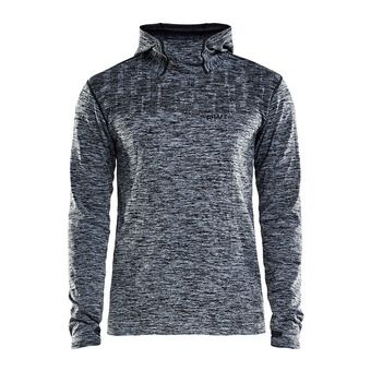 Sweat à capuche homme CORE 2.0 noir chiné
