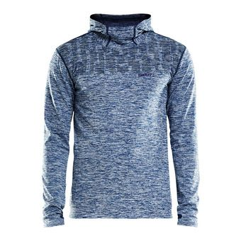 Sweat à capuche homme CORE 2.0 true blue chiné