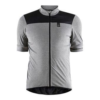 Camiseta hombre POINT antracita jaspeado/negro