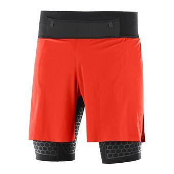 Short 2 en 1 homme EXO TWINSKIN fiery red/black