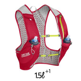Gilet d'hydratation 1.5+1L NANO crimson red/lime punch