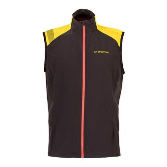 Chaleco hombre MISTRAL black/yellow