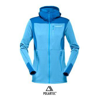 Polaire zippé à capuche Polartec® femme FALKETIND WARM1 blue moon