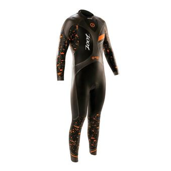 Combinaison homme WAVE 3 black/high viz orange