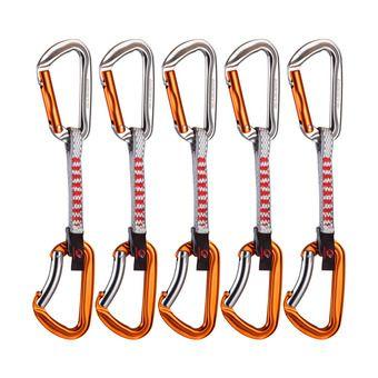 Lot de 5 dégaines WALL KEY LOCK straight gate/bent gate silver/orange