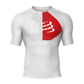 Camiseta de compresión hombre TRIATHLON POSTURAL blanco