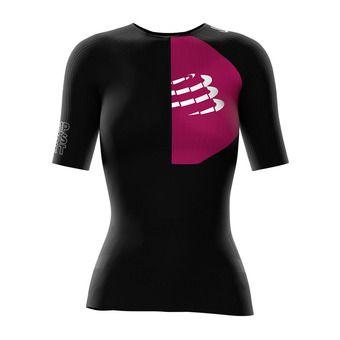 Camiseta de compresión mujer TRIATHLON POSTURAL negro