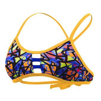 Haut de maillot de bain femme COSTA MESA PACIFIC TIEBACK orange/purple