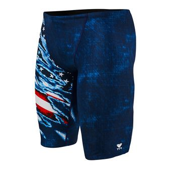 Jammer homme LIVE FREE ALL OVER red/white/blue