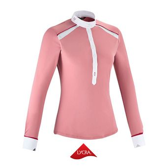 Chemise de concours ML femme AERIAL II misty rose