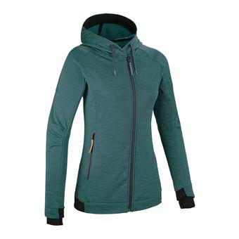Sweat à capuche zippé femme TEMPEST II emerald