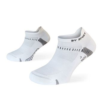 Lot de 2 paires de socquettes de running LIGHT ONE ULTRAS COURTES blanc