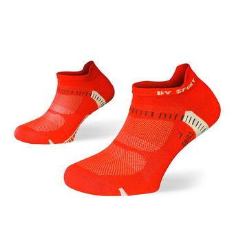 Lot de 2 paires de socquettes de running LIGHT ONE ULTRAS COURTES noir/rouge