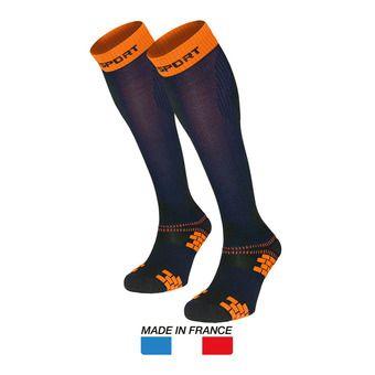 Calcetines de compresión mujer XLR EVO azul/naranja