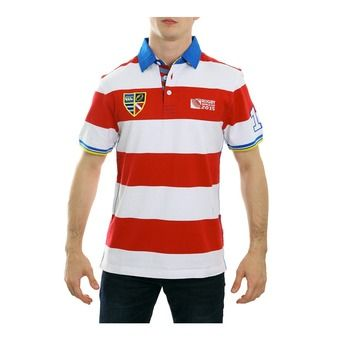 Polo MC homme ADVANTAGE HOOP RWC 2015 red/blue