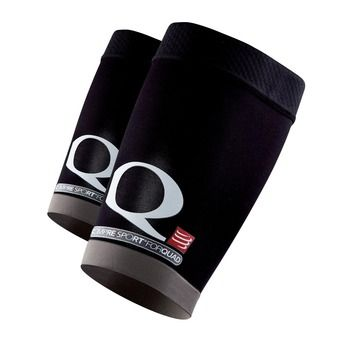 Manchons de compression quadriceps FOR QUAD noir