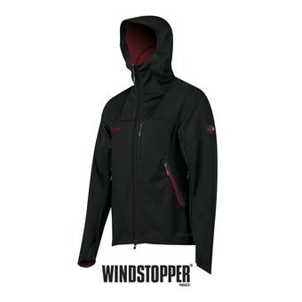 Veste à capuche homme ULTIMATE black/dark inferno