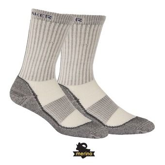 Calcetines mujer HIKE BASIC LIGHT CREW silver/horizon/oil