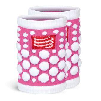 Muñequeras SWEAT 3D rosa flúor
