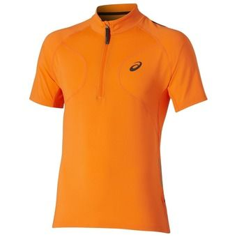 Maillot MC 1/2 zip homme FUJITRAIL shocking orange