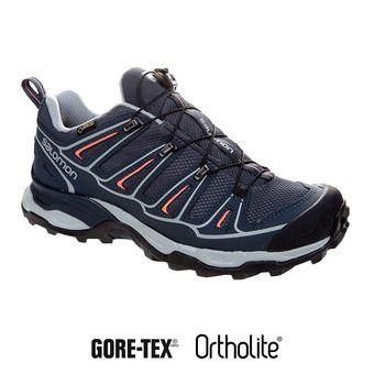 Chaussures randonnée femme X ULTRA 2 GTX® grey denim/deep blue/melon bloom