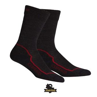 Chaussettes homme HIKE+ LIGHT CREW jet hthr/red/black