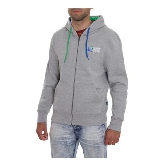 Sweat à capuche zippé homme 20 NATIONS EVENT RWC 2015 grey marle