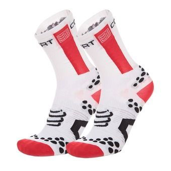 Chaussettes BIKE HIGH-CUT V2.1 blanc/pois rouge