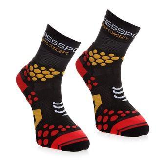 Chaussettes TRAIL HIGH-CUT V2.1 noir/pois rouge