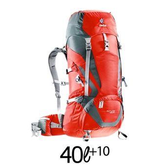 Mochila 40+10L ACT LITE rojo/granito